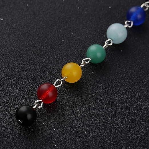 MERSDW - Collar con Colgante de ágata Yoga y Chakra: Amazon ...