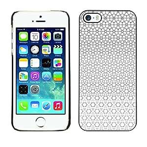 [Neutron-Star] Snap-on Series Teléfono Carcasa Funda Case Caso para iPhone 5 / 5S [Modelo geométrico gris blancos Continuo]