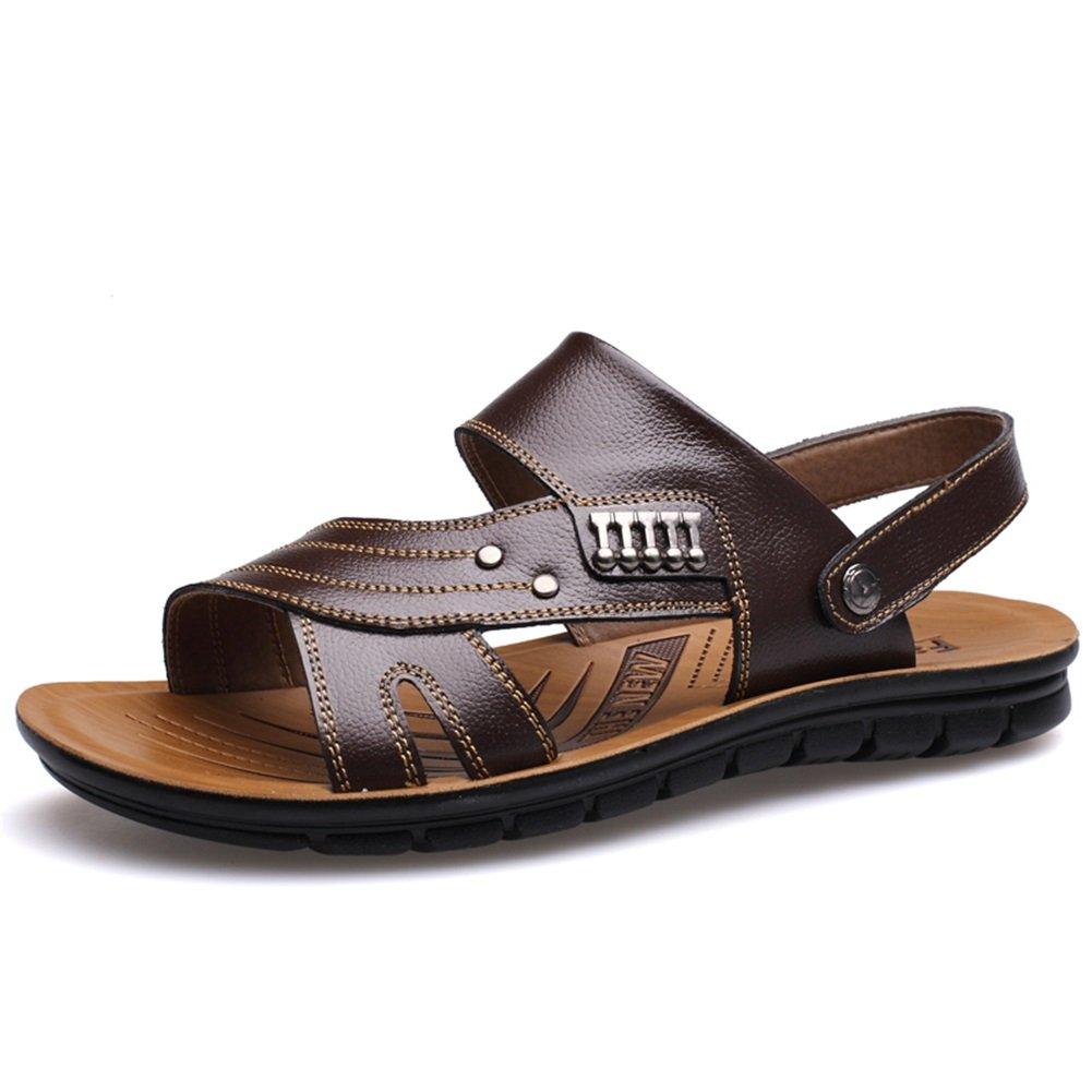 Scarpe da uomo In pelle Primavera Estate Suole leggere Comfort Sandali Scarpe da passeggio Rivet fibbia per casual ufficio GLSHI