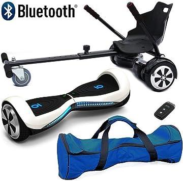 Patineta Eléctrica Auto Balanceada con Bluetooth de 6.5