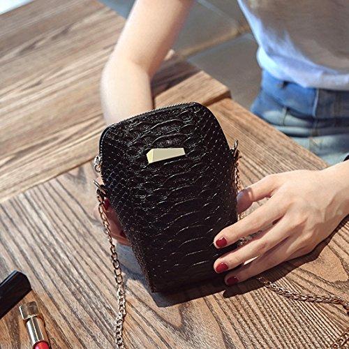 MXNET Universal Vertical Flip Upright PU Ledertasche Lady Schultertasche Crossbody Tasche mit Metall Kette Lanyard für iPhone 7 Plus & 6s Plus & 6 Plus & 7 & 6s & 6 & SE & 5 & 5s, Samsung Galaxy S7 Ed