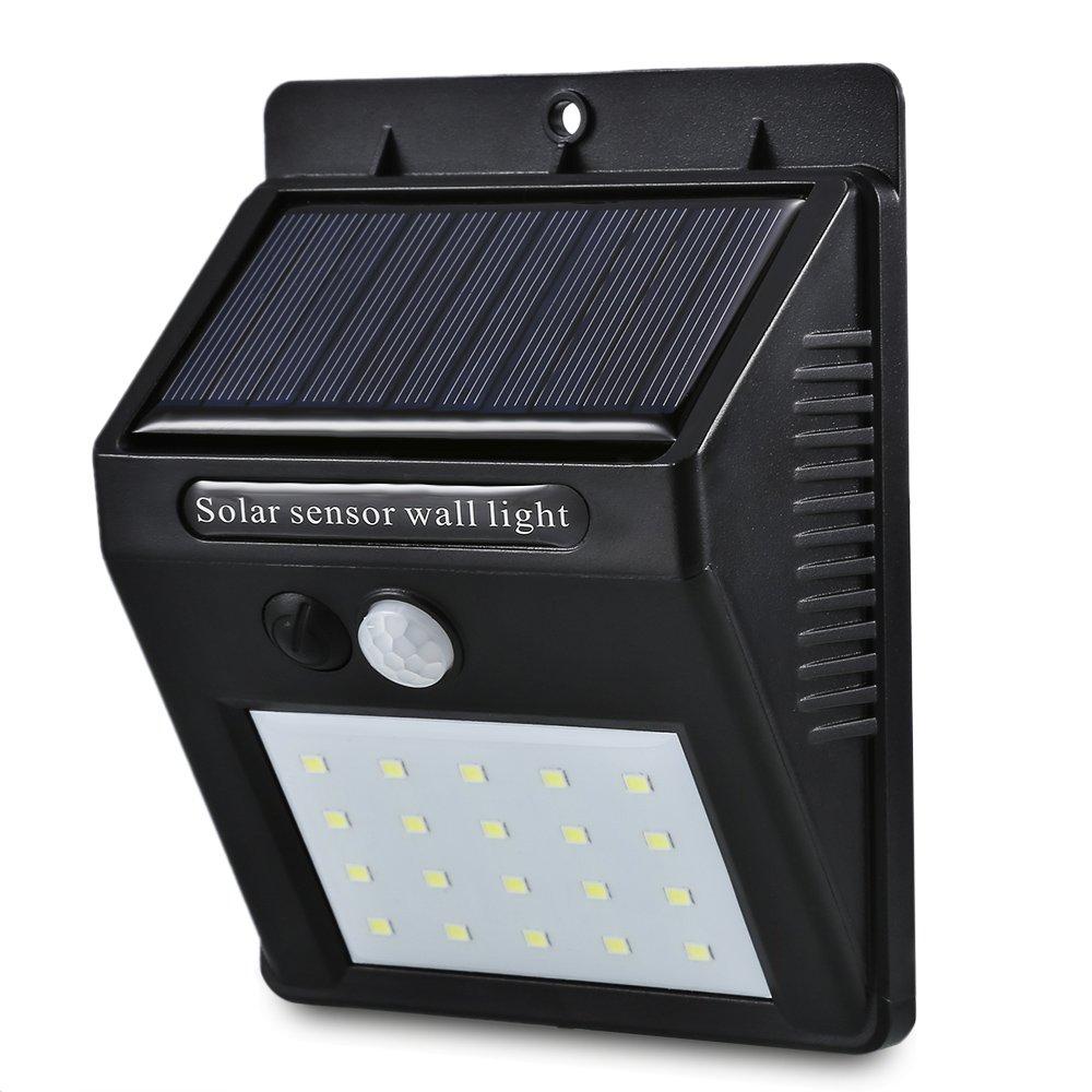 Chao Liang Luci Solari Led Solar Power Pir Lampada Da Parete Con Sensore Di Movimento 20 Led Impermeabile Esterna A Risparmio Energetico Via Yard Path Lampada Da Giardino Di Sicurezza Domestica, 1Pz
