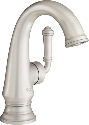 American Standard 7052121.295 Delancey Bathroom Faucet with Side Handle and Drain, Brushed Nickel