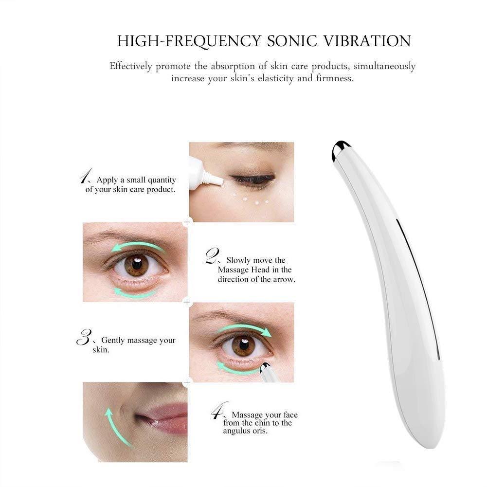 Amazon.com: Masajeador Eléctrico Para Contorno De Ojos Con Vibración De Alta Frequencia - Masajeador Antiarrugas Y Antiedad: Beauty