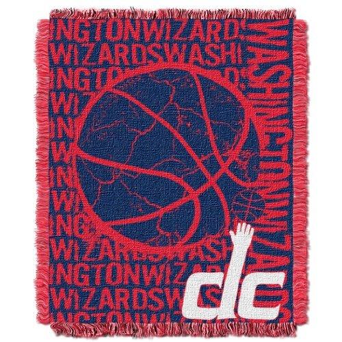 Northwest 019 NBA Washington Wizards 46 x 60-Inch Double Play Jacquard Triple Woven Throw