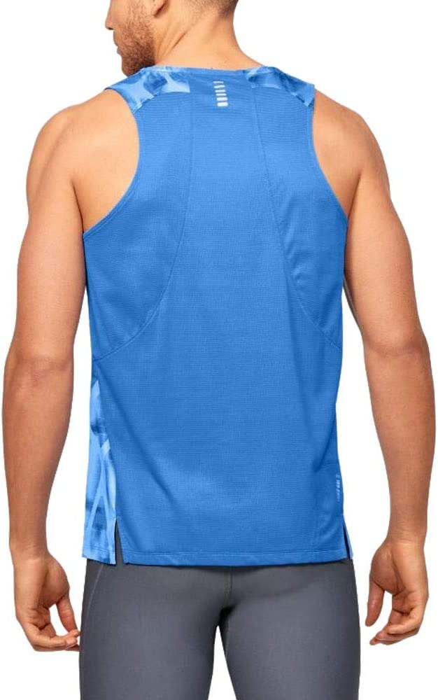 Blue Under Armour Qualifier Iso-Chil Printed Mens Running Vest