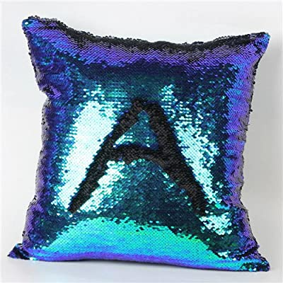 FairyTeller Double Color Glitter Sequins Throw Pillow Case Cafe Home Decor Cushion Covers Capa De Almofada Quality First
