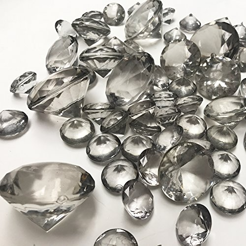 Koyal Wholesale Centerpiece Vase Filler Acrylic Diamonds, Gray