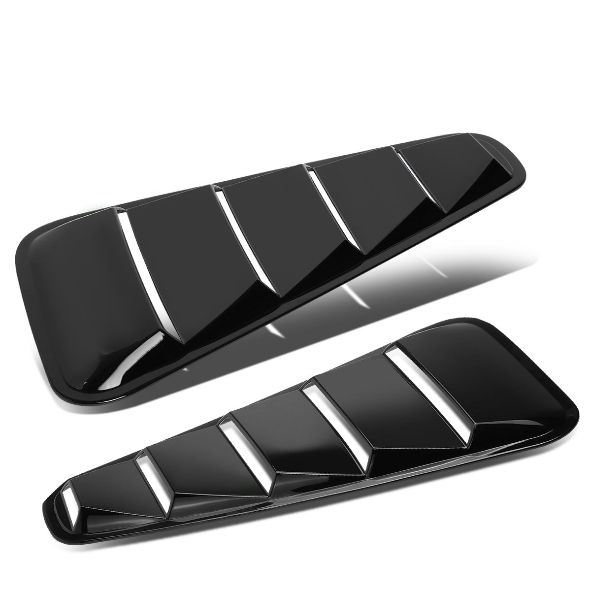 DNA Motoring GRF-037-BK Side Vent Quarter Window Louvers [For 05-14 Ford Mustang Coupe]