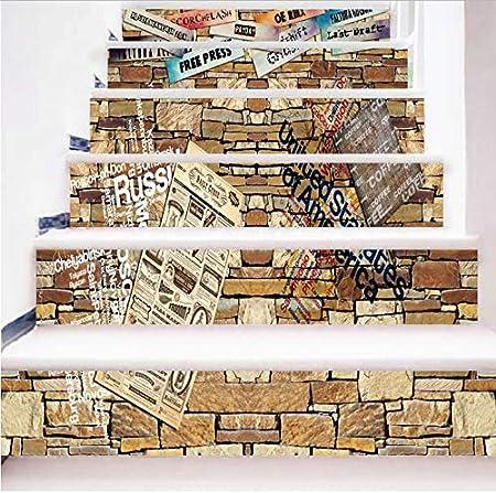 HHKX100822 Pegatinas De Escaleras Creativo 6 Unids/Set DIY ...