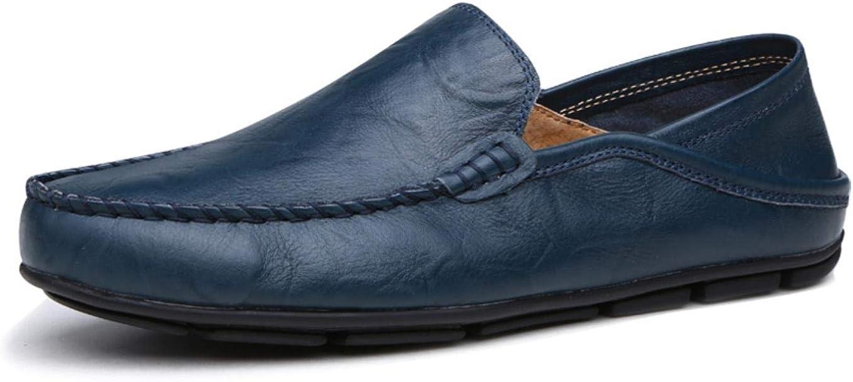 Moodeng Hombres Moda Mocasines Zapatos de Negocios Bota de Cuero Genuino Transpirable Correr Caminar Oficina Casual Todos los D/ías Entrenadores Al Aire