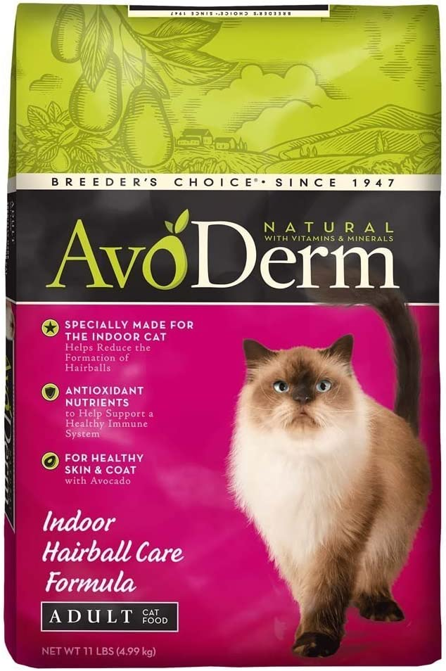 AvoDerm Natural Indoor Hairball and Weight Control Formula Cat Food