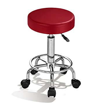 Superb Rolling Swivel Stool Chair For Salon Spa Office Tattoo Facial Massage Bar Black Chair Adjustable Hydraulic Short Links Chair Design For Home Short Linksinfo