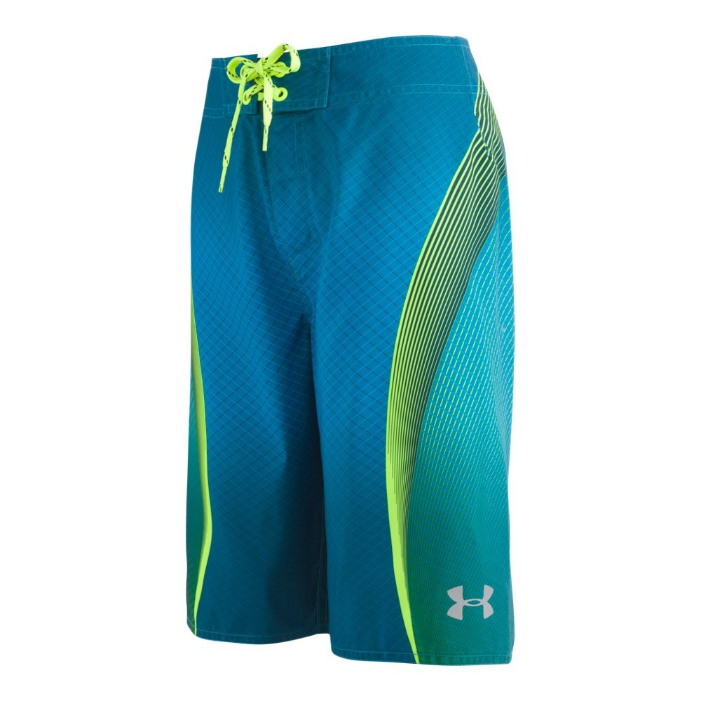 Under Armour Boys' Big Boardshort, Blue/Green, 10