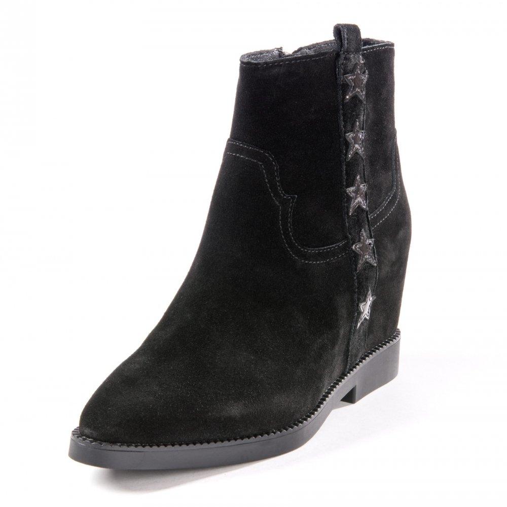 Ash Zapatos Goldie Botines de Ante Negro Mujer39 EU|Negro