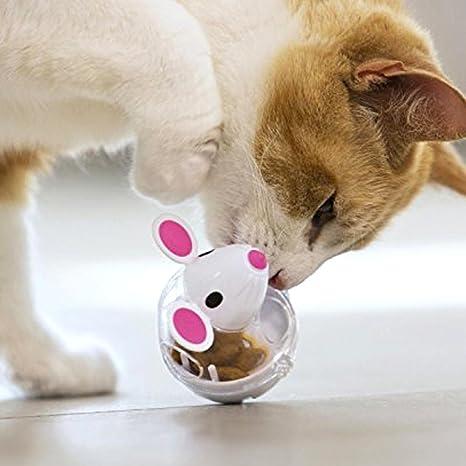Pawaca - Dispensador de pelota para gatos, juguete de alimentación para mascotas, bola interactiva