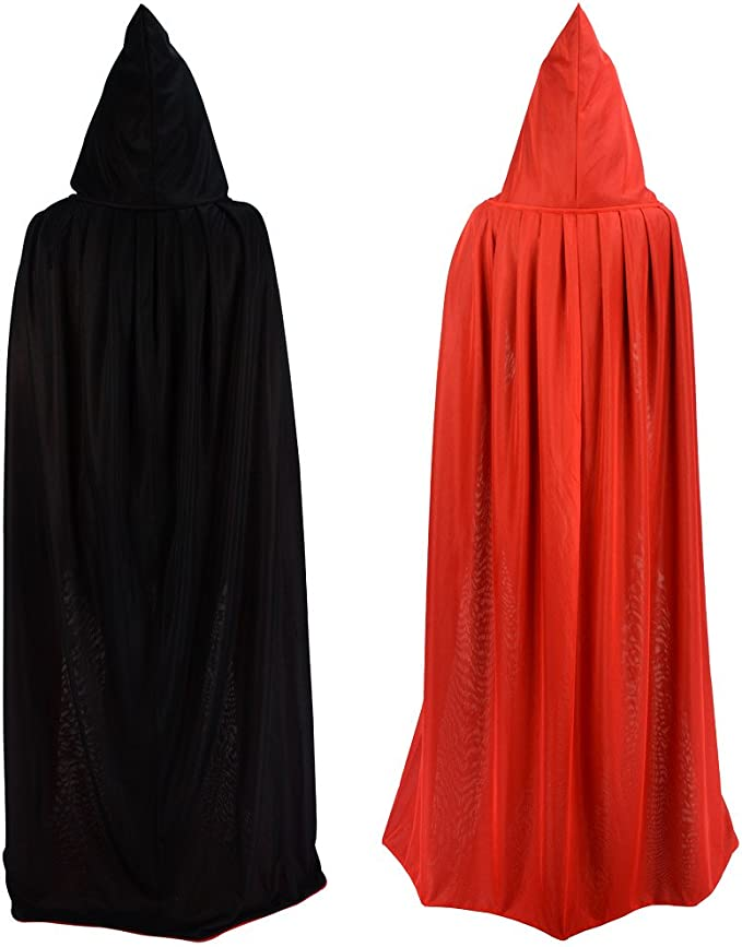 AC242 ADULT LADIES RIDING HOOD VAMPIRESS FANCY DRESS CAPE HOODED CLOAK