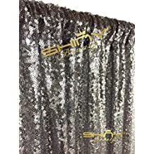 ShinyBeauty Sequin Backdrop-Gunmetal-2FTX7FT Sequin Photography Backdrop Sparkly Christmas Photo Booth Backdrop
