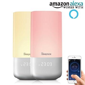 e52cea59b45f7e Sleepace Nox Smart Sleep System, Works with Amazon Alexa, Sleep Aid Night  Light w
