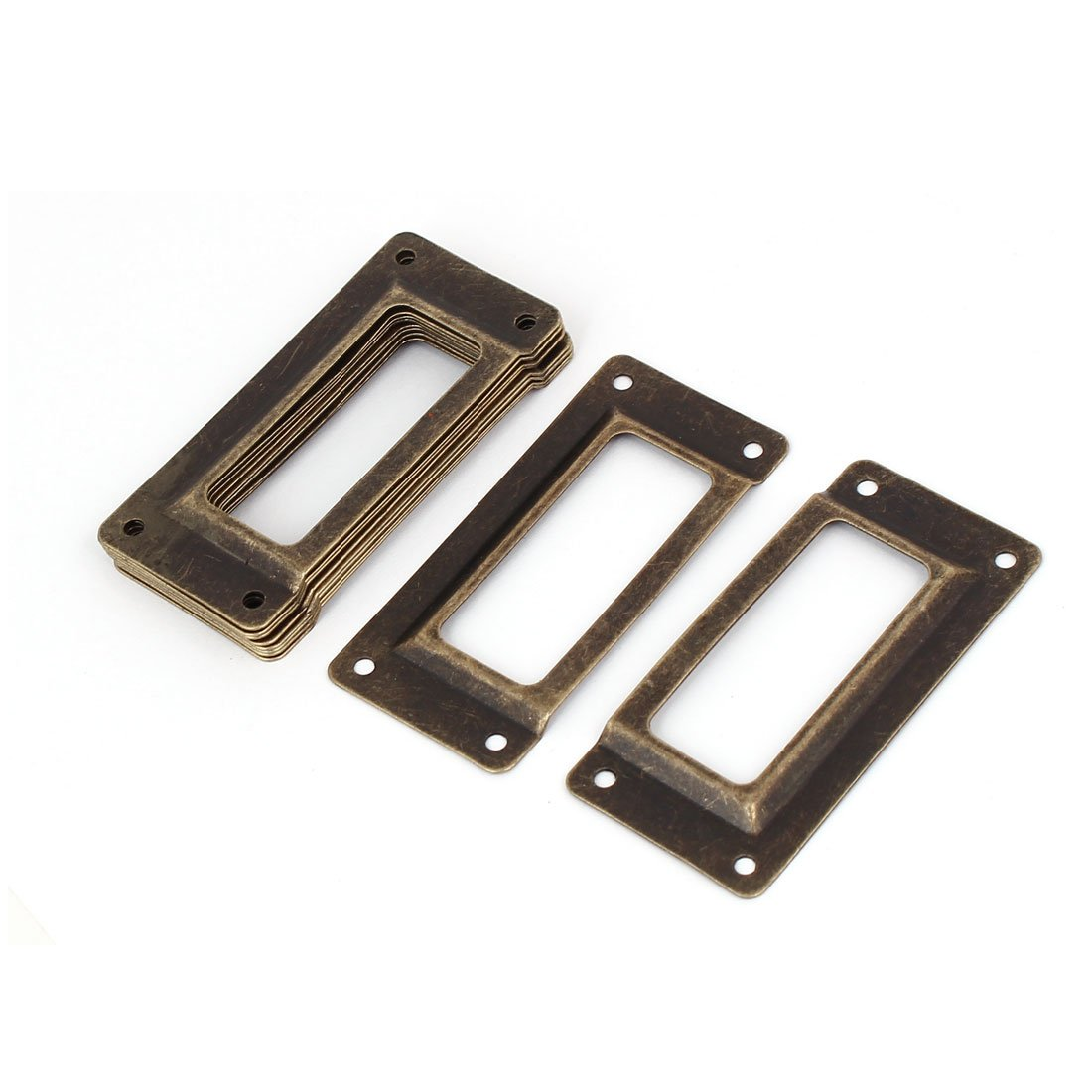 uxcellOffice Library File Drawer 62mm x 28mm Iron Tag Label Holder Name Card Frame 10pcs a16061400ux0794