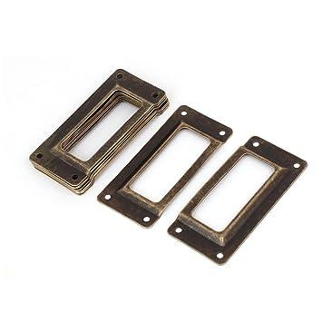50 St/ück Silber Metall Aktenschrank Etikettenrahmen Schrankrahmen Rahmen de
