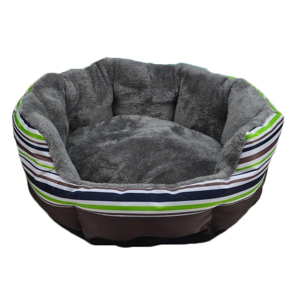 GREEN L GREEN L Moolo Pet bed artico Velvet Kennel morbido e confortevole impermeabile impermeabile non slip durevole multi -colore opzionale A3 Dog Bed (Colore: GREEN, Dimensione: L)