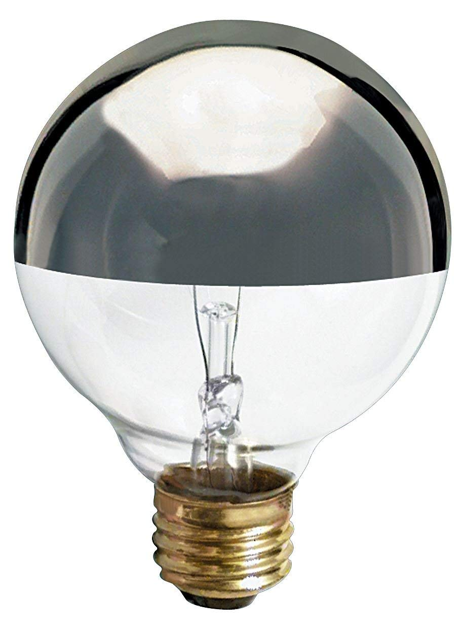 Satco 40G25/SL Incandescent Globe Light, 40W E26 G25, Silver Crown Bulb [Pack of 12] by Satco (Image #1)