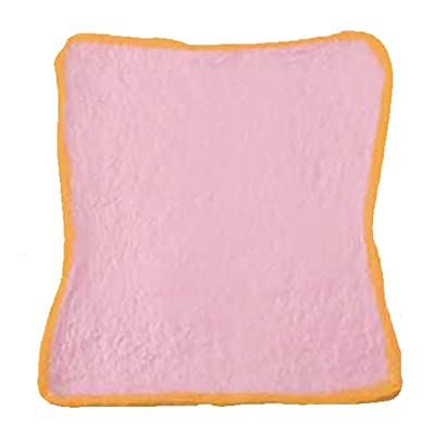 ibloom Realistic Milk Toast Slow Rising Squishy Toy [Aoyama Tokyo Milk Toast Reborn Series] (Strawberry, Pink, 4.7 Inch) [Easter Basket Stuffers, Party Favors, Stress Relief Toys for Kids]: Toys & Games