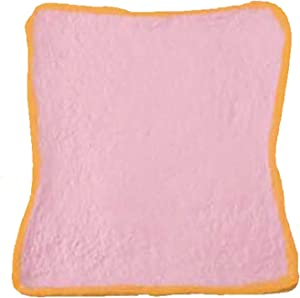 iBloom Aoyama Tokyo Milk Toast Reborn Realistic Bread Slow Rising Squishy Toy (Strawberry, Pink, 4.7 Inch) [Kawaii Squishies for Party Favors, Stress Balls, Birthday Gifts for Kids, Girls, Boys]