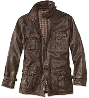 b88954b0c Orvis Men s Crowley Grand Leather Coat at Amazon Men s Clothing store