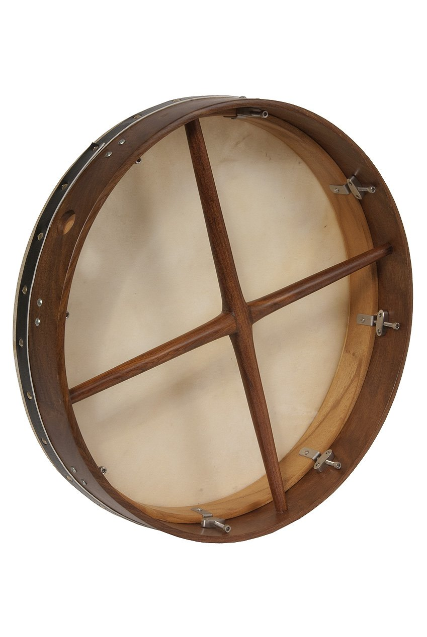 Bodhran, 18'', Tune, Rosewd, Double,Cross