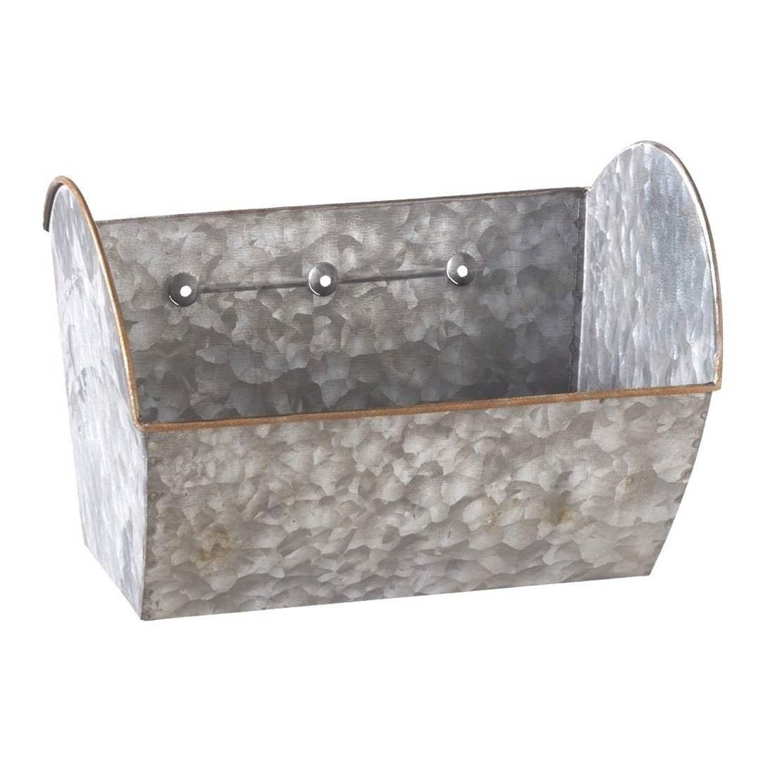 "Midwest CBK 8.5"" x 5.5"" Galvanized Metal Hanging Wall Planter"