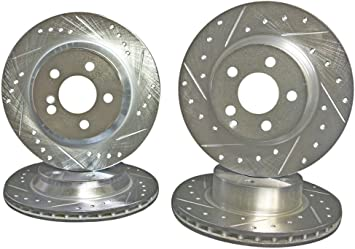 Front Brake Rotors And Ceramic Pads For 2003 2004 2005 2006 Mercedes Benz S430