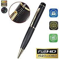 Khool® Bolígrafo Espía con Mini Cámara 1080P HD Cámara de Vigilancia Portátil Secreta con Grabadora de Sonido. Incluye Tarjeta de 32GB