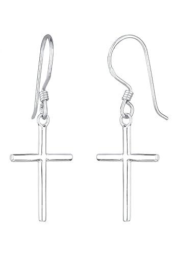 Elli Damen-Ohrhänger Kreuz Symbolschmuck 925 Silber