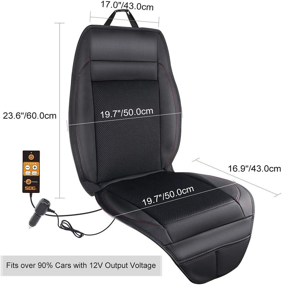 cuscino rinfrescante per l/'estate Cuscinetto di raffreddamento per auto con 3 ventole integrate Beige 12V per la ventilazione del sedile dell/'auto multifunzione