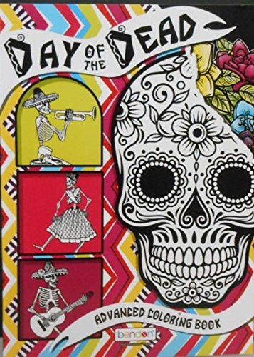 Amazon.com: Day of the Dead Advanced Coloring Book; Adult Day of the ...