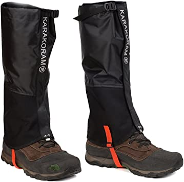 2 Pairs Outdoor Hiking Climbing Running Waterproof Anti-Tear Trail Gaiters