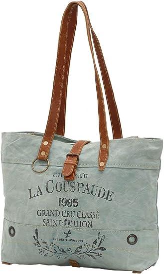 Myra Bags La Couspaude Upcycled Canvas Tote Bag M-0814
