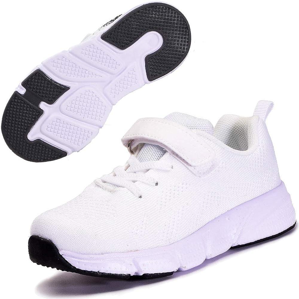 Zapatillas Deportivas para Niños Ligeras Zapatillas de Correr Niñas Calzado de Deporte Zapatillas de Running Sneakers Blanco 32: Amazon.es: Zapatos y complementos
