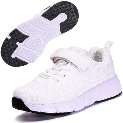 Zapatillas Deportivas para Niños Ligeras Zapatillas de Correr Niñas Calzado de Deporte Zapatillas de Running Sneakers Blanco 35: Amazon.es: Zapatos y complementos