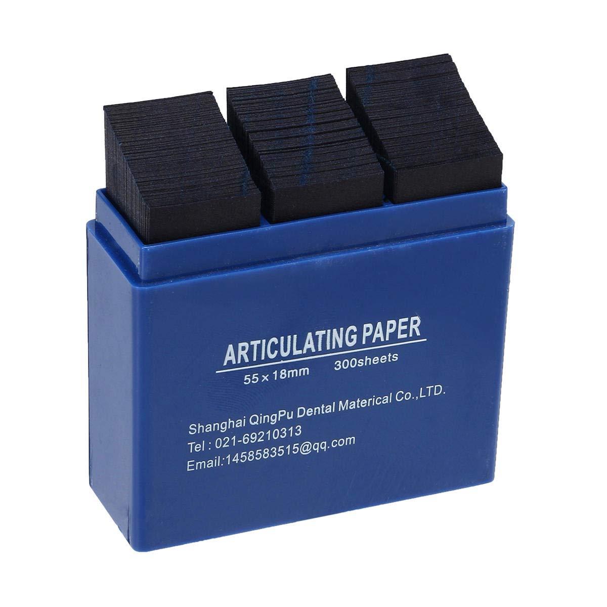 300 hojas de papel articulado dental, productos de laboratorio dental, tiras de cuidado de dientes, kit de herramientas: Amazon.es: Hogar