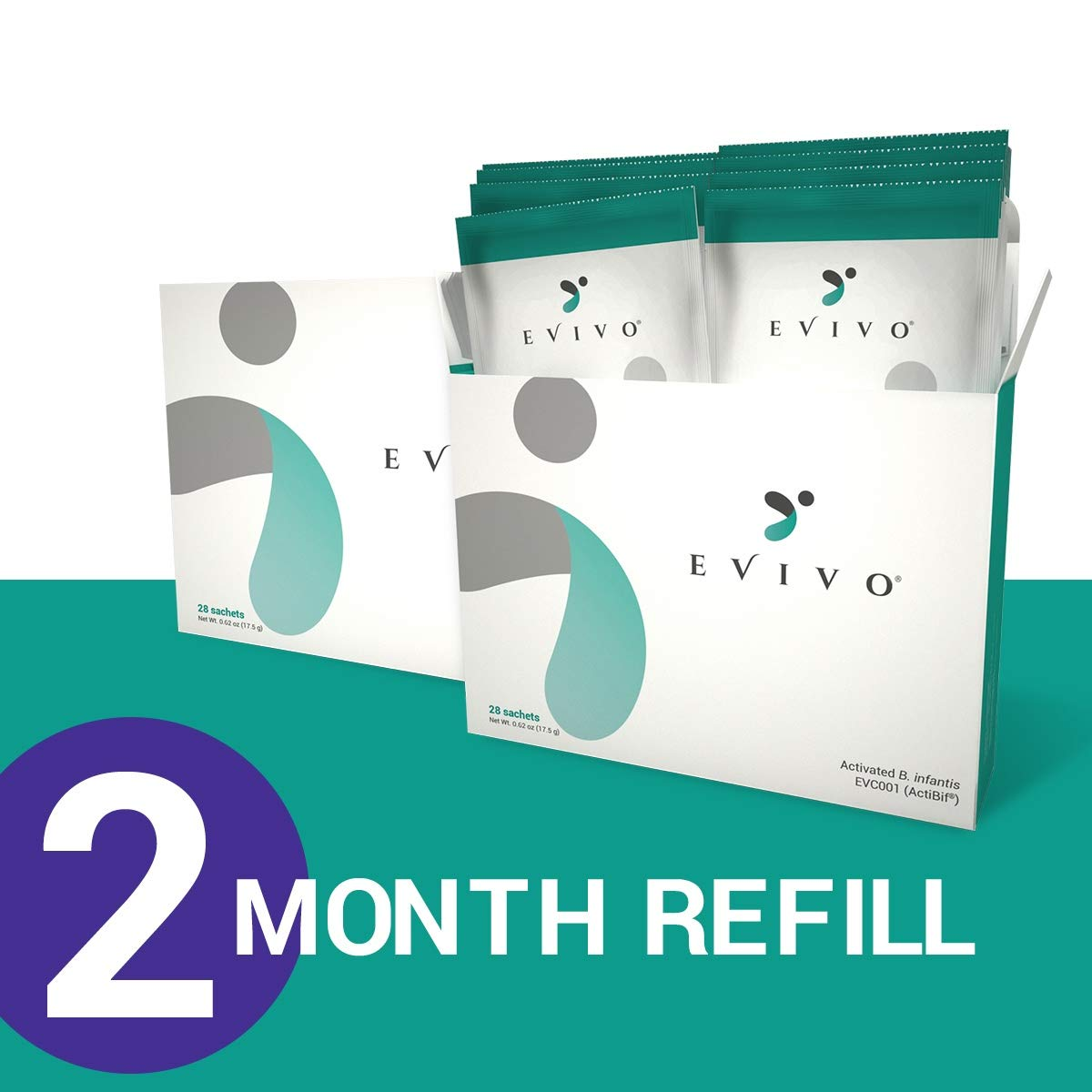 Evivo Baby Probiotic Refill with Activated B. infantis — 2-Months Supply (8-Weeks)