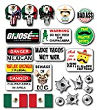 23 pack of Mexican Crude Humor Hilarious Hard Hat Prank Decal Joke Sticker Funny Laugh Construction LOL