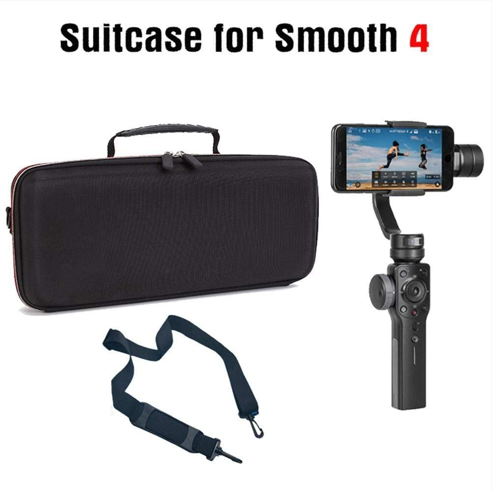 Yifant Zhiyun Smooth 4 Handheld Gimbal Portable Carrying Case Waterproof Shoulder Bag With Strap for Handheld Gimbal Stabilizer,Tripod Stand,Power Bank Accessories (Black colour with nylon material)