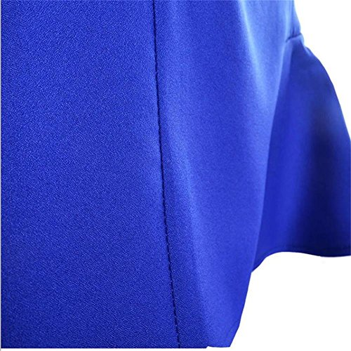 Jupe Vintage Style lgante Femmes Cocktail Jupe Patineuse Minetom Haute Jupe Line A Bleu Taille A01UUvZwnq