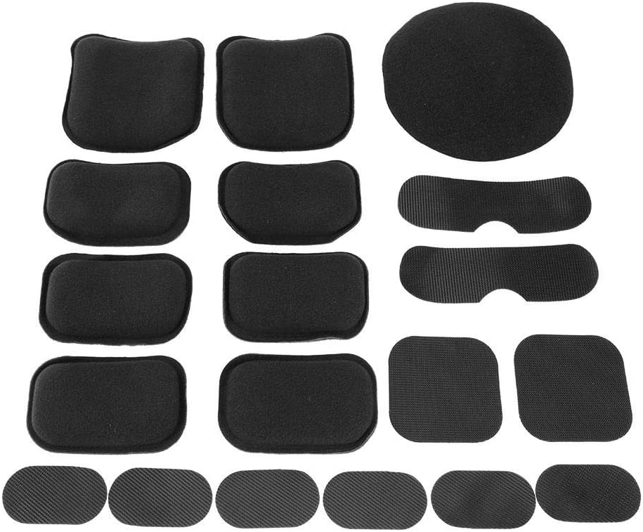 wosume Universal Helmet Pads 19pcs//Set Soft and Durable EVA Foam Helmet Pads Foam Pad Replacement Accessories