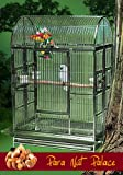 Para Nut Palace Stainless Steel Extra Large Bird Cage - Perfect for Large Parrots, Macaws, Cockatoos, Large Birds/Parrots - 42''W x 28''D x 66''H - Cage with 2 Exterior Feeders