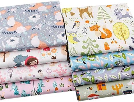 Bunny /& Bee Design 100/% Cotton Fat Quarter Bundle 5 Fabrics Craft//Quilting