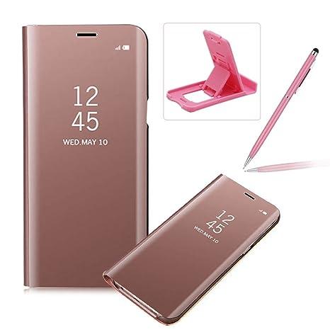 Coque Galaxy S7 Edge Clapet, Herzzer Housse Étui en PU Cuir Luxe Placage  Technologie avec 847391b15160
